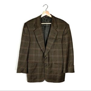 VTG CANALI Two Button Sport Jacket Blazer Plaid